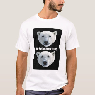T-shirt do clube do urso polar do Bi Camiseta