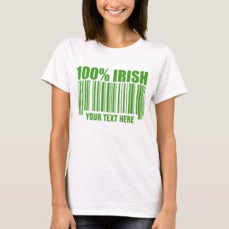 T-shirt do código de barras do irlandês de 100% camiseta