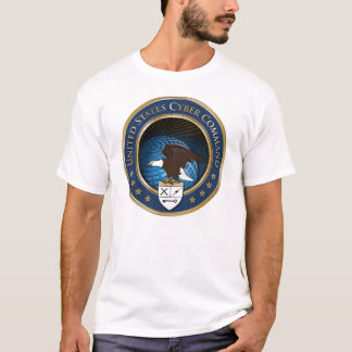 T-shirt do comando USCYBERCOM do Cyber dos E.U. Camiseta