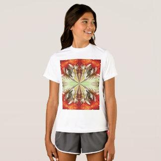 T-shirt do concorrente do Esporte-Tek das meninas Camiseta
