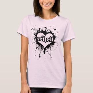 T-shirt do CORAÇÃO da SALSA Camiseta