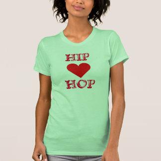 T-shirt do coração de Hip Hop Camiseta