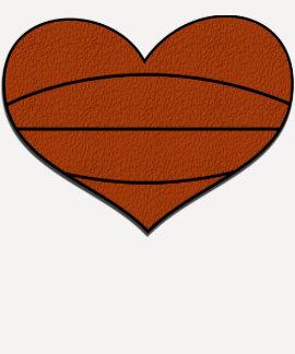 T-shirt do coração do basquetebol