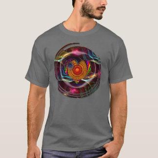 T-shirt do coração do Fractal Camiseta