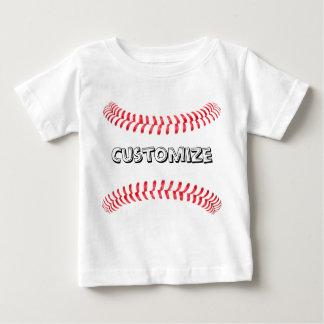 T-shirt do costume do basebol do bebê camiseta para bebê