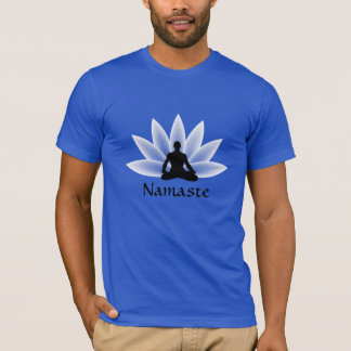 T-shirt do costume do homem de Lotus da ioga de Camiseta