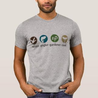 T-shirt do cozinheiro do jardineiro do pescador do