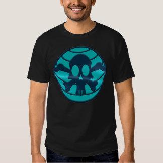 T-shirt do crânio da nação do cianureto (preto)