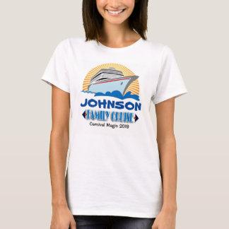 T-shirt do cruzeiro da família camiseta