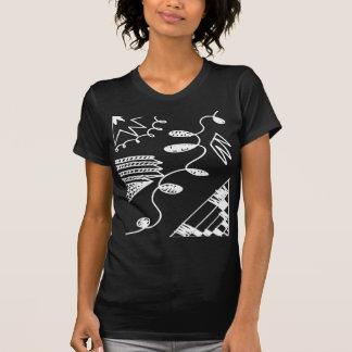 T-shirt do desenho da caneta de feltro do abstrato