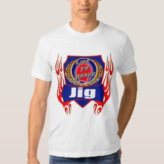 T-shirt do desgaste da dança do gabarito