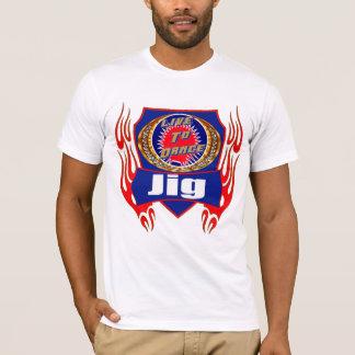 T-shirt do desgaste da dança do gabarito camiseta