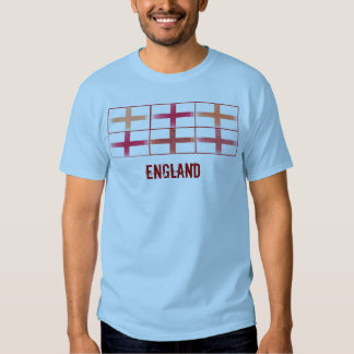 T-shirt do design da bandeira do fã de Inglaterra