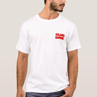 T-shirt do design do império da ilha camiseta