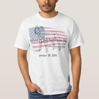 T-shirt do dia da consciência do pitbull do camiseta