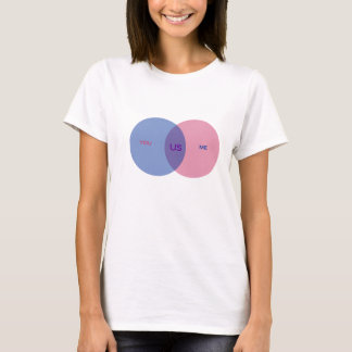 T-shirt do diagrama de Venn Camiseta