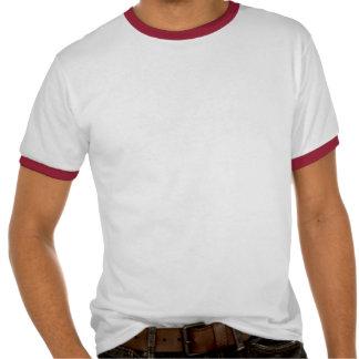 T-shirt do dinossauro do tiranossauro do Cyborg do