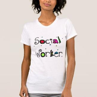 T-shirt do divertimento do assistente social
