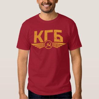 T-shirt do emblema do russo KGB