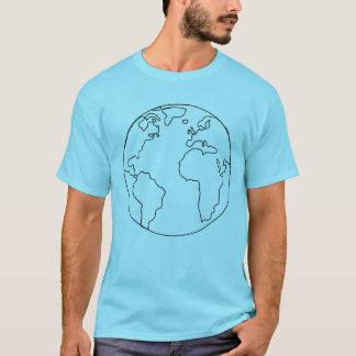 T-shirt do esboço do mundo camiseta