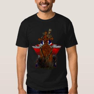 T-shirt do esqueleto de Union Jack