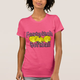 T-shirt do estilo da zebra do softball de Fastpitc