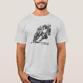 T-shirt do estilo do vintage da carne sem gordura camiseta