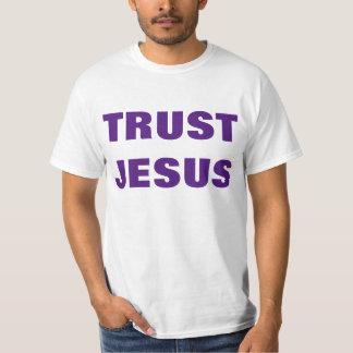 T-shirt do evangelismo de Jesus da confiança