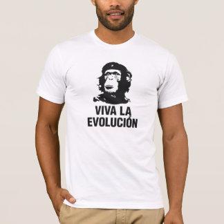 t-shirt do evolucion do la do viva camiseta