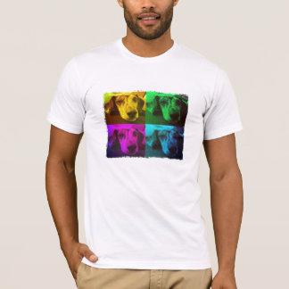 T-shirt do filhote de cachorro do pop art de camiseta