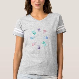 T-shirt do futebol das mulheres das medusa camiseta