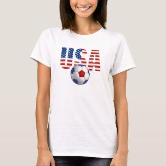 T-shirt do futebol dos EUA Camiseta