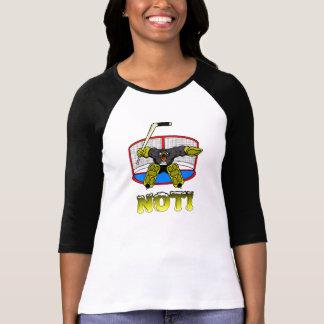 T-shirt do Goalie do pinguim das mulheres NÃO