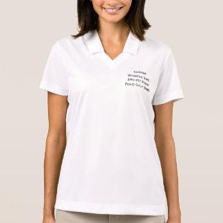 T-shirt do golfe do polo do piqué do Dri-AJUSTADO