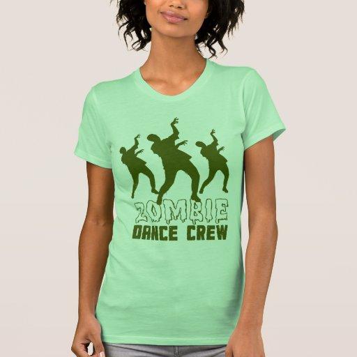 T-shirt do grupo da dança do zombi