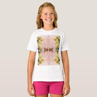 T-shirt do Hanes TAGLESS® das meninas Camiseta