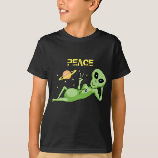 T-shirt do Hanes TAGLESS® dos miúdos da alienígena Camiseta