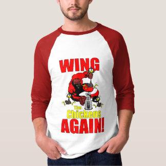 T-shirt do hóquei de Detroit