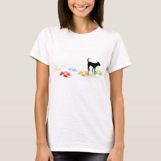 T-shirt do impressão da pata camiseta