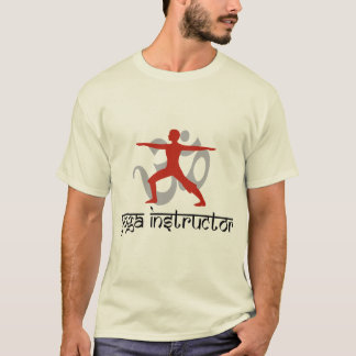T-shirt do instrutor da ioga camiseta