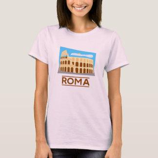 T-shirt do italiano do coliseu de Roma Camiseta