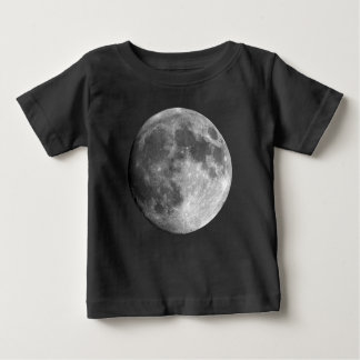 T-shirt do jérsei da multa do bebê da lua camiseta para bebê