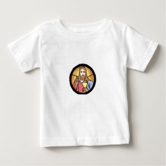 T-shirt do jérsei da multa do bebê de Jesus