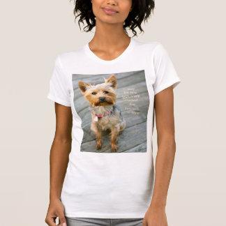 "t-shirt do jérsei de ""Nina"" do yorkshire terrier Camiseta"