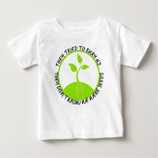 T-shirt do jérsei do bebê das sementes camiseta para bebê