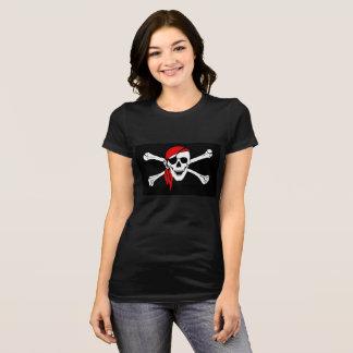 T-shirt do jérsei do Bella das mulheres do pirata Camiseta