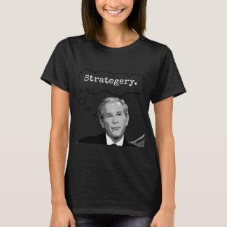 """T-shirt do Jr. """"Strategery"""" de George Bush das Camiseta"""