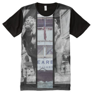T-shirt do leão de Dearborn Camisetas Com Impressão Frontal Completa