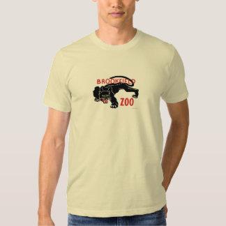 T-shirt do leopardo do preto do jardim zoológico