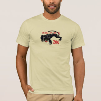 T-shirt do leopardo do preto do jardim zoológico camiseta